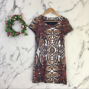 See by Chloe Floral Metallic Shift Dress